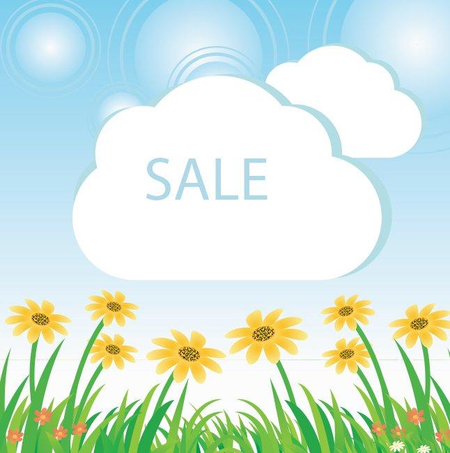 646x649 Free Vector Spring Sale Background Vector Art Amp Graphics