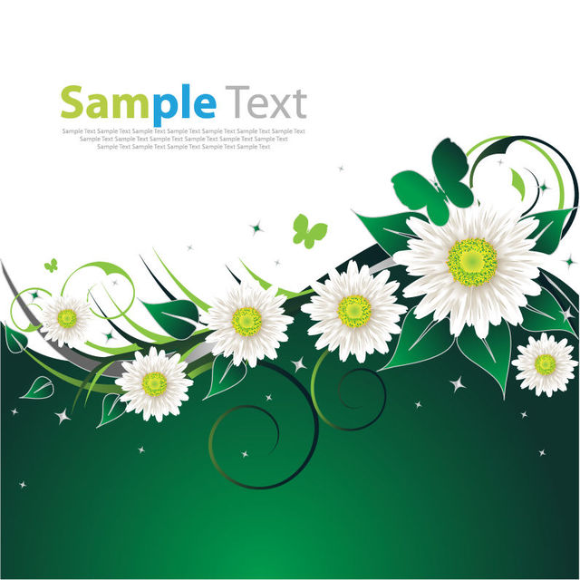 640x640 Free Vectors Spring Flowers Swirling Floral Background The
