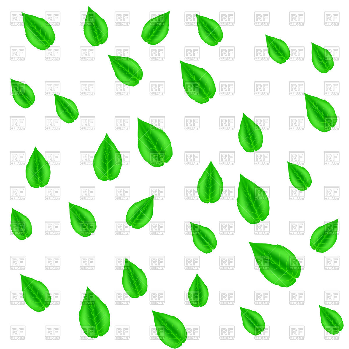 1200x1200 Pattern With Spring Green Leaves Vector Image Vector Artwork Of