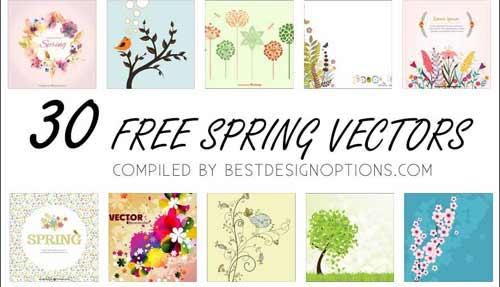 500x287 Plants Clip Art Graphics 30 Flower And Leaves Vector Illustrations