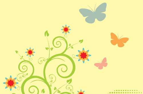 500x330 A Collection Of Free Spring Vectors For Designers Designbeep