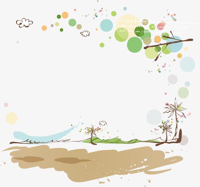 650x607 Spring Background Cartoon Cartoon Material, Spring Vector, Cartoon