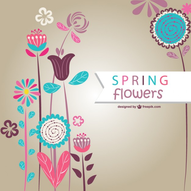 626x626 Spring Flowers Background Vector Free Download