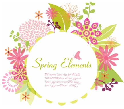433x381 Spring Frame Vector Graphic Ai,eps Format Free Vector Download