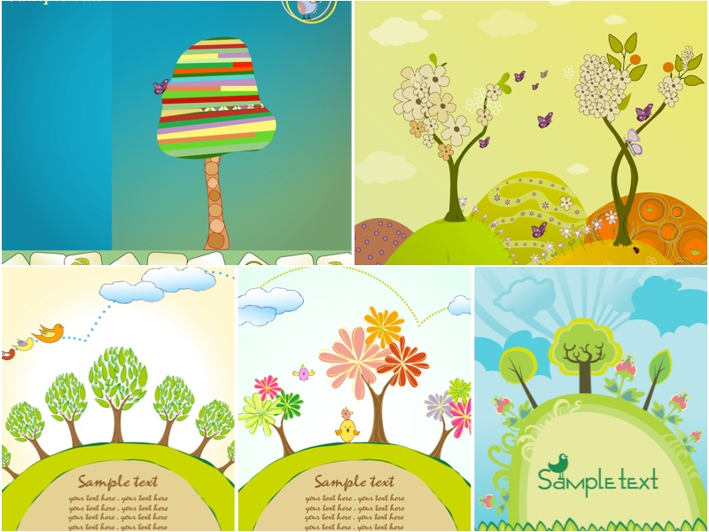 800x600 Spring Trees Backgrounds Vector Vector Graphics Blog