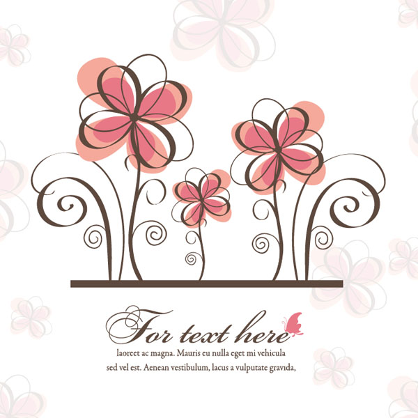 600x600 Vector Spring Floral Background