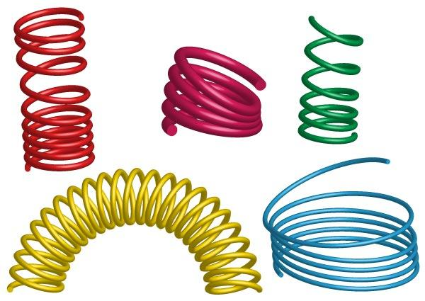 600x425 Coil Spring Free Vector 123freevectors
