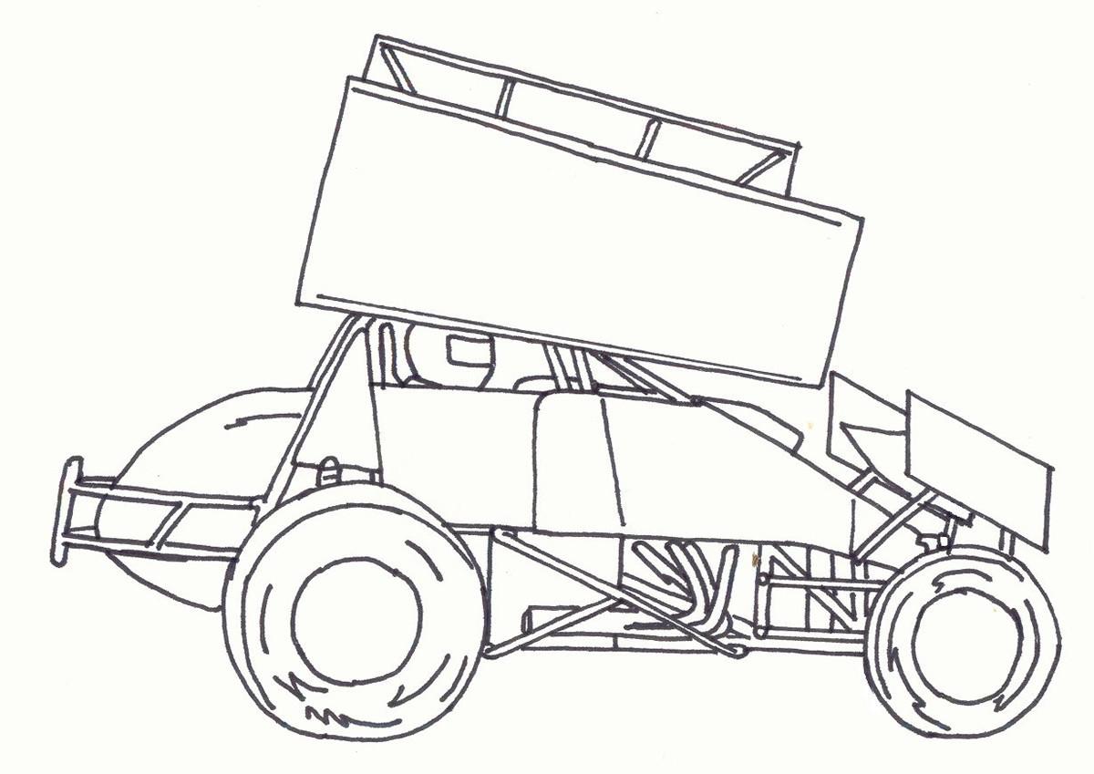 1200x849 Dirt Race Car Coloring Pages 17 8