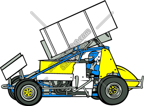500x370 Sprint Car With Driver Clipart And Vectorart Vehicles