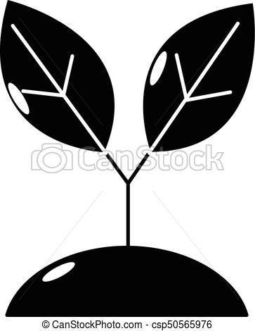 363x470 Plant Sprout Icon, Simple Style. Plant Sprout Icon. Simple