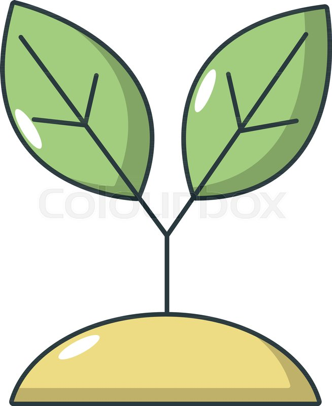 654x800 Plant Sprout Icon. Cartoon Illustration Of Plant Sprout Vector