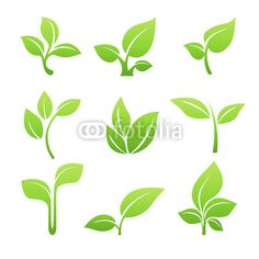 236x236 Simple Sprouting Seed Illustration. Green Cartoon Sprout Vector