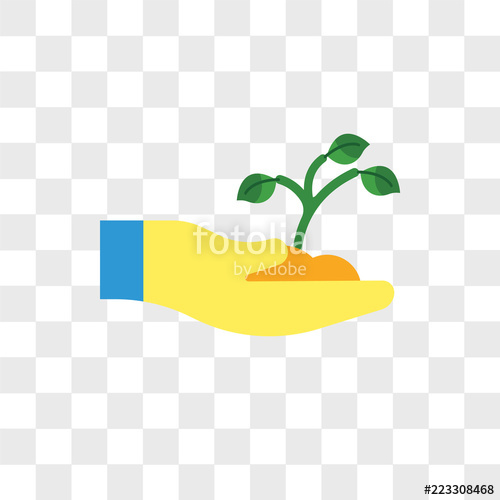 500x500 Sprout Vector Icon Isolated On Transparent Background, Sprout Logo