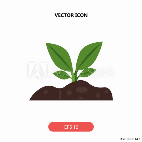 500x500 Sprout Vector Icon
