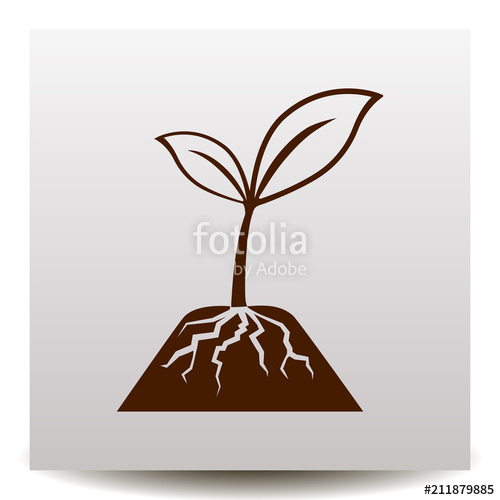 500x500 Sprout Vector Icon. Stock Image And Royalty Free Vector Files On