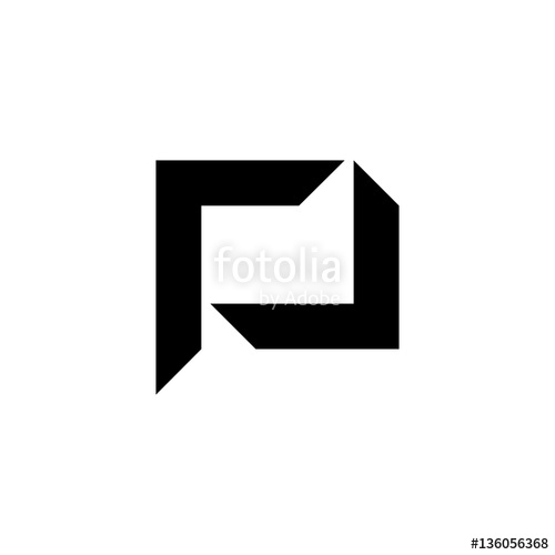 500x500 P Square Letter Initial Logo Vector Stock Image And Royalty Free