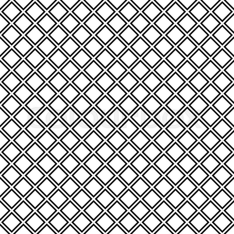 800x800 Repeat Black White Abstract Square Pattern Design Stock Vector