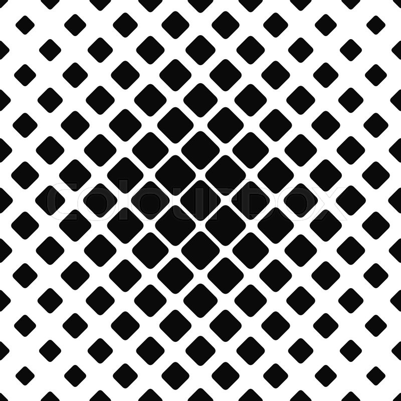 800x800 Seamless Monochrome Rounded Square Pattern Design Background