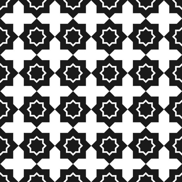 640x640 Vector Seamless Pattern Black And White Repeating Geometric Square