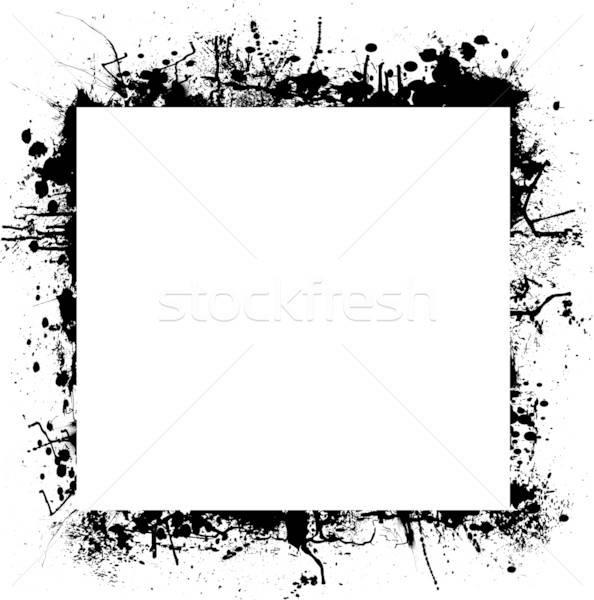 594x600 Ink Splat Border Square Vector Illustration Michael Travers