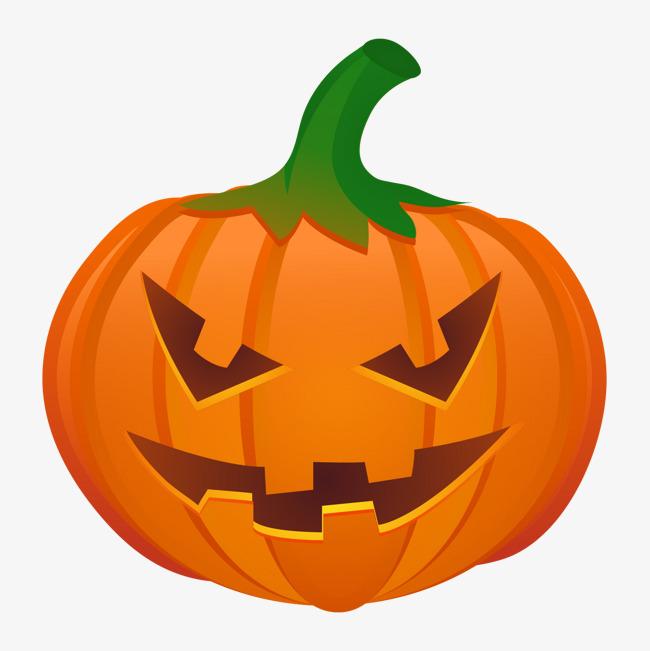 650x651 Halloween Pumpkin Vector Material, Halloween, Pumpkin, Orange Png
