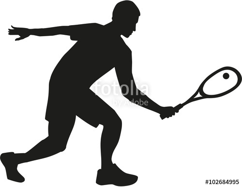 500x387 Squash Player Silhouette Stock Image And Royalty Free Vector