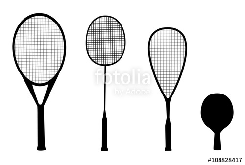 500x337 Silhouettes Of Racquet Sports