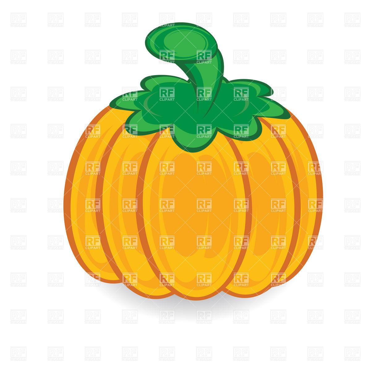 1200x1200 Cartoon Pumpkin With Green Stem Vector Image Vector Artwork Of