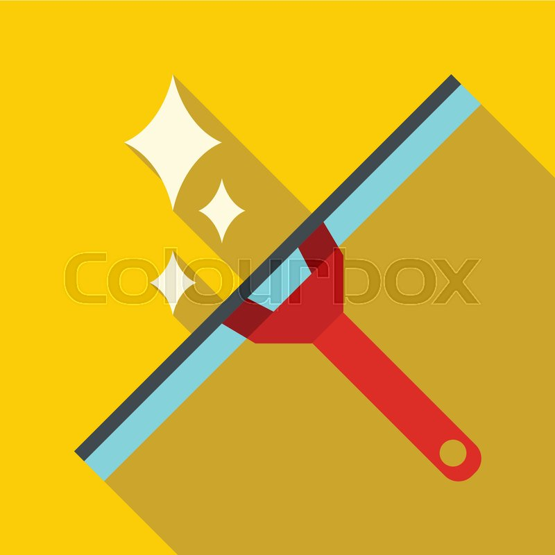 800x800 Window Squeegee Icon. Flat Illustration Of Window Squeegee Vector