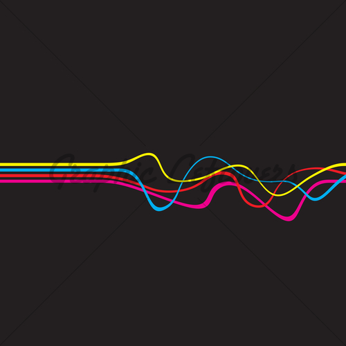 500x500 Squiggle Lines Vector Gl Stock Images