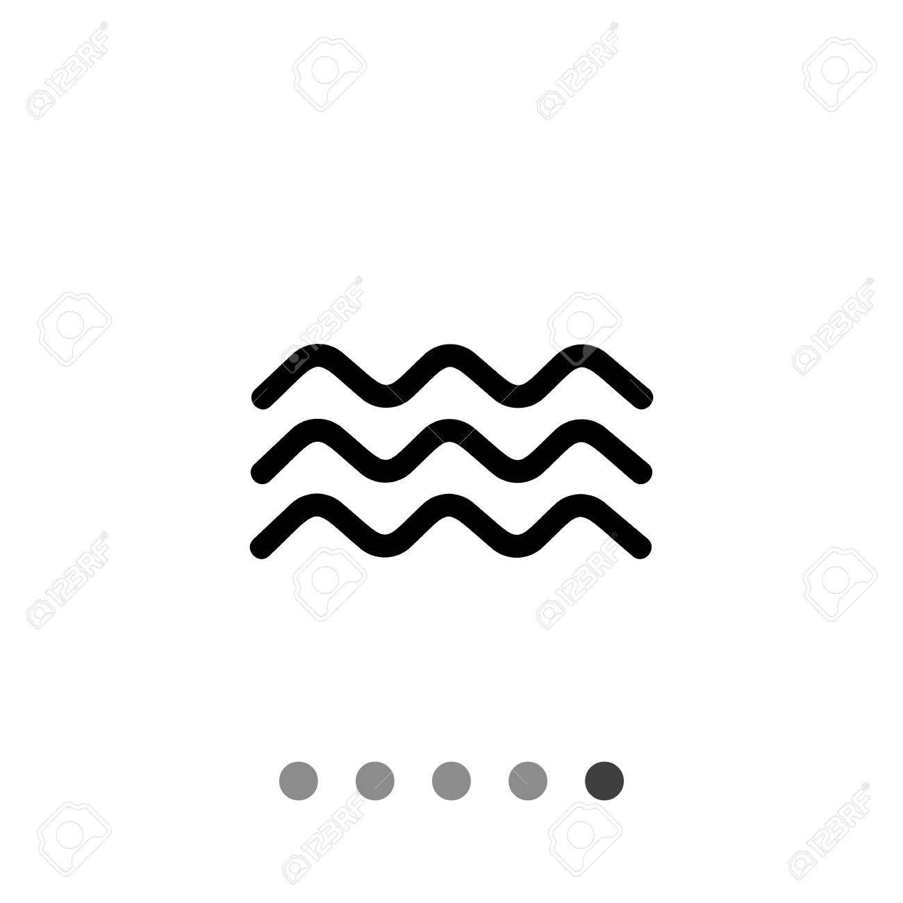 1300x1300 63113277 Monochrome Vector Icon Of Three Squiggly Lines