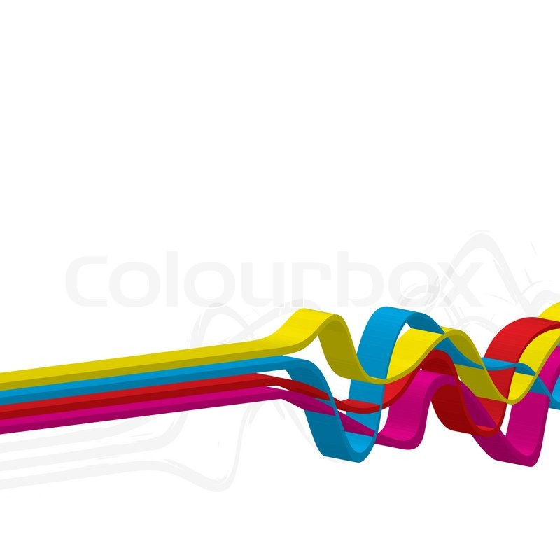 800x800 Abstract Layout With Wavy Lines In A Cmyk Color Scheme Stock