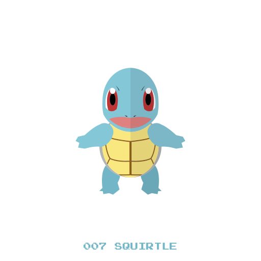 512x512 Kanto, Pokemon, Squirtle, Water Icon
