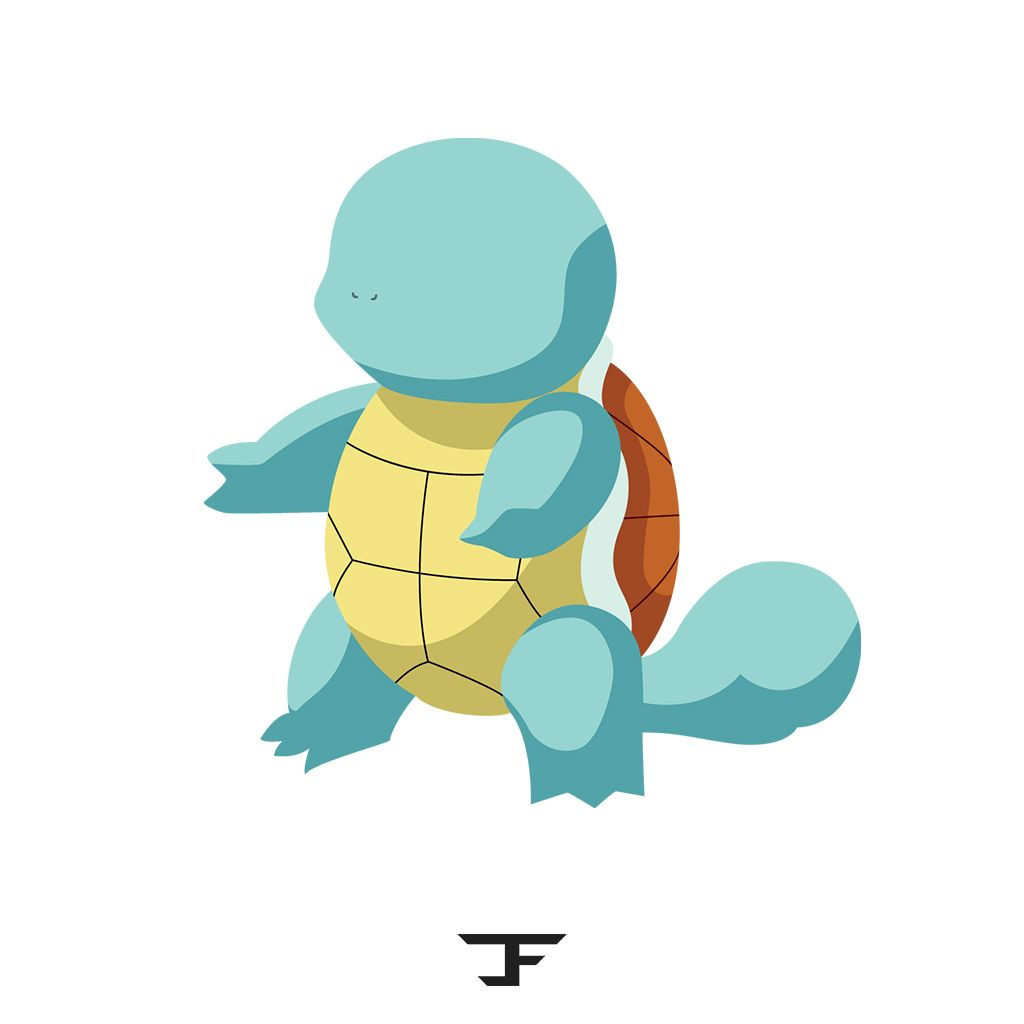 1024x1024 Squirtle Pokemon Vector Art