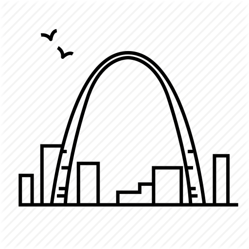 St Louis Arch Vector