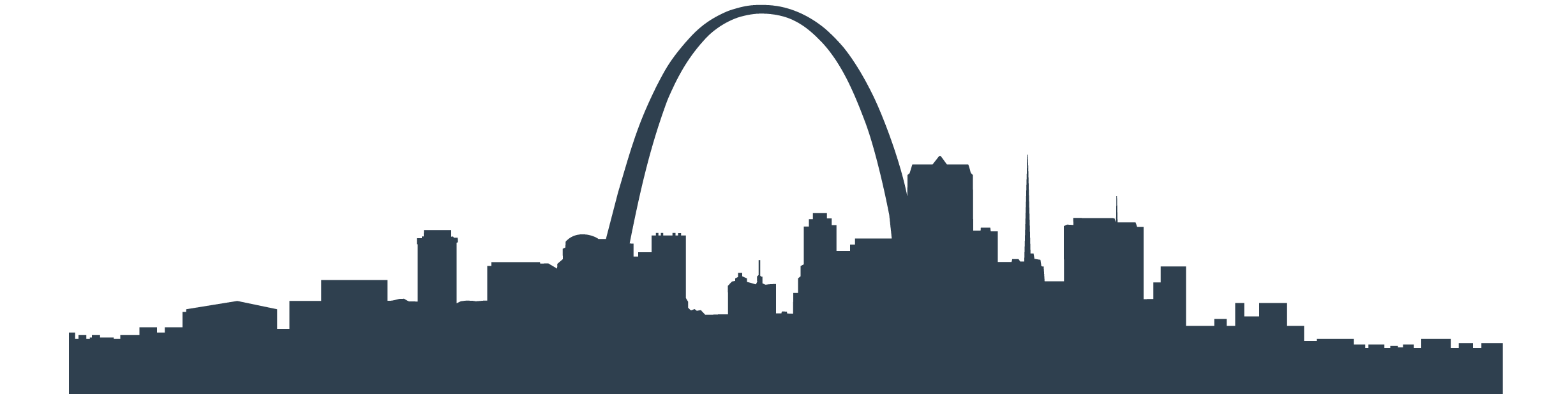 St Louis Skyline Vector