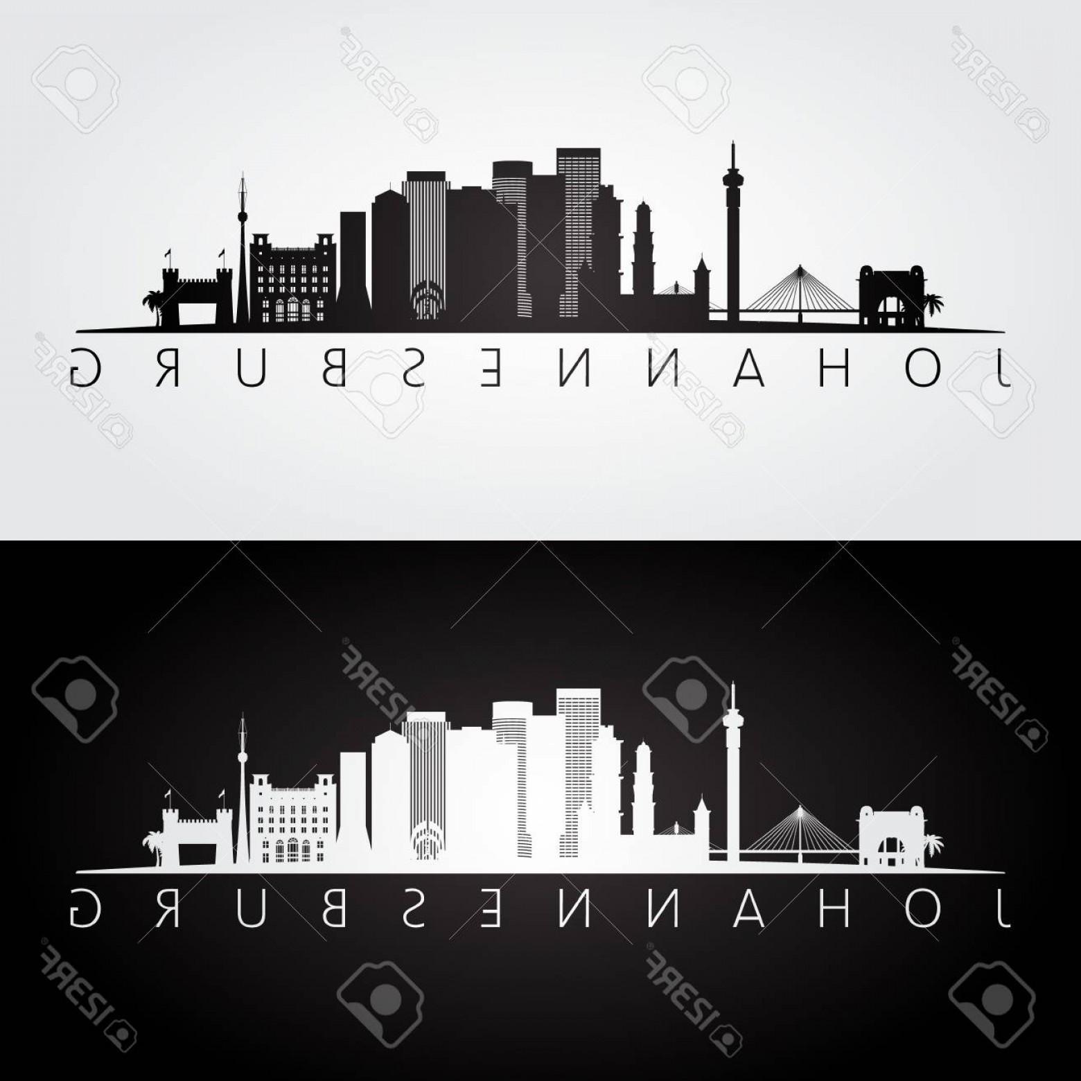 1560x1560 Photostock Vector Johannesburg Skyline And Landmarks Silhouette
