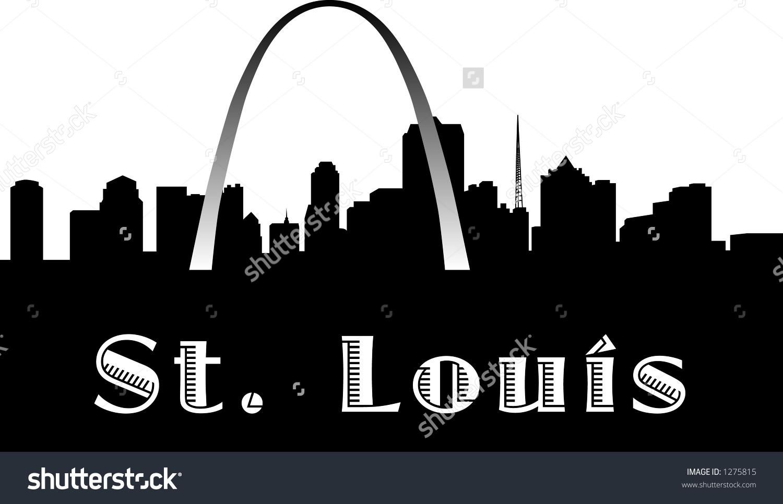 1500x966 Saint Louis Skyline Clipart