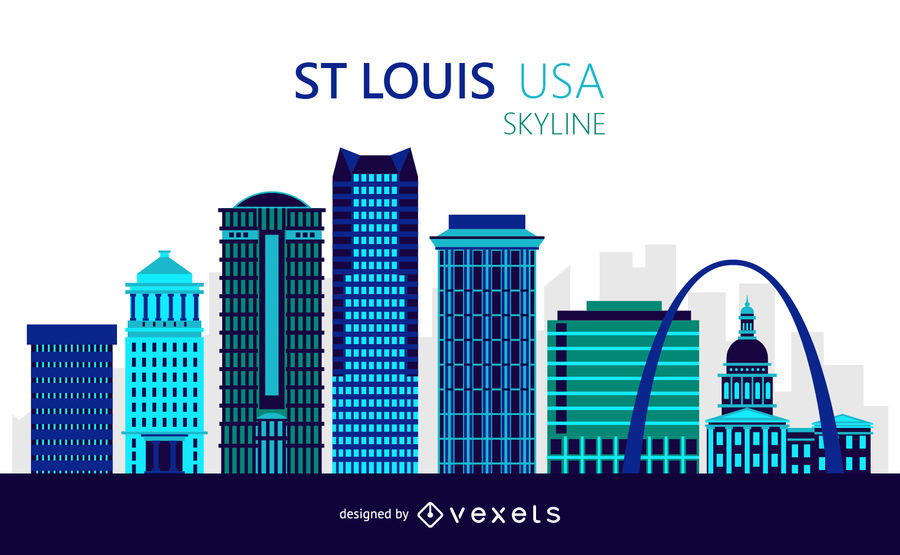 900x555 Saint Louis Skyline Illustration