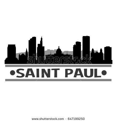 450x470 Saint Louis Skyline Silhouette Design City Stock Vector 650457925