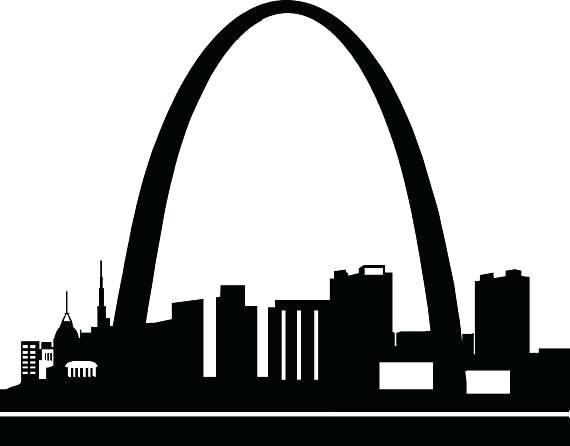 570x446 St Louis Skyline Art Arch Skyline 9 Saint Louis Skyline Poster