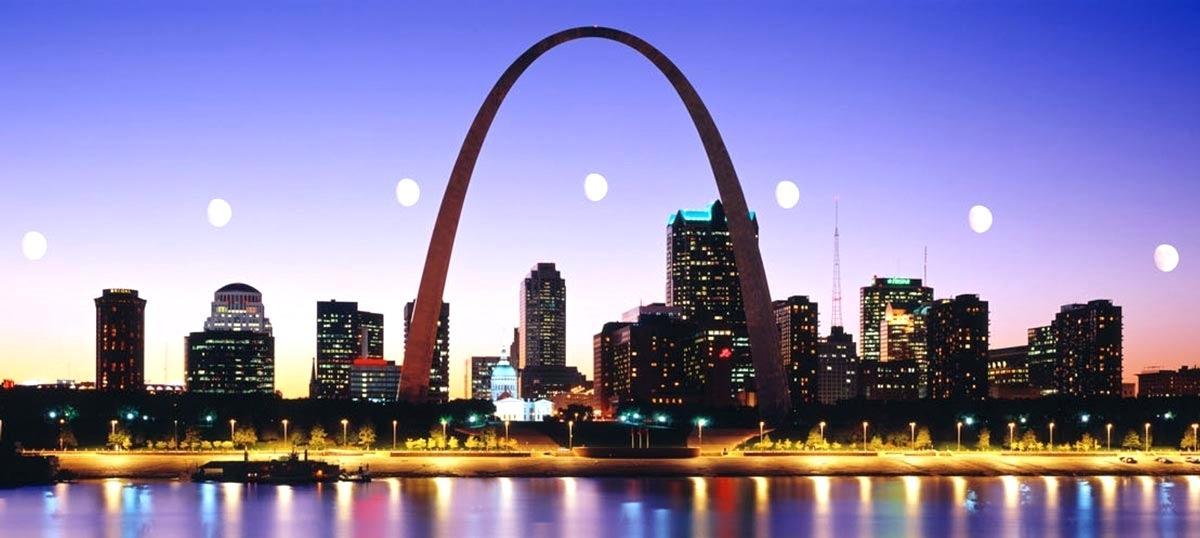 1200x538 St Louis Skyline Canvas Prints City Vector Creekmore