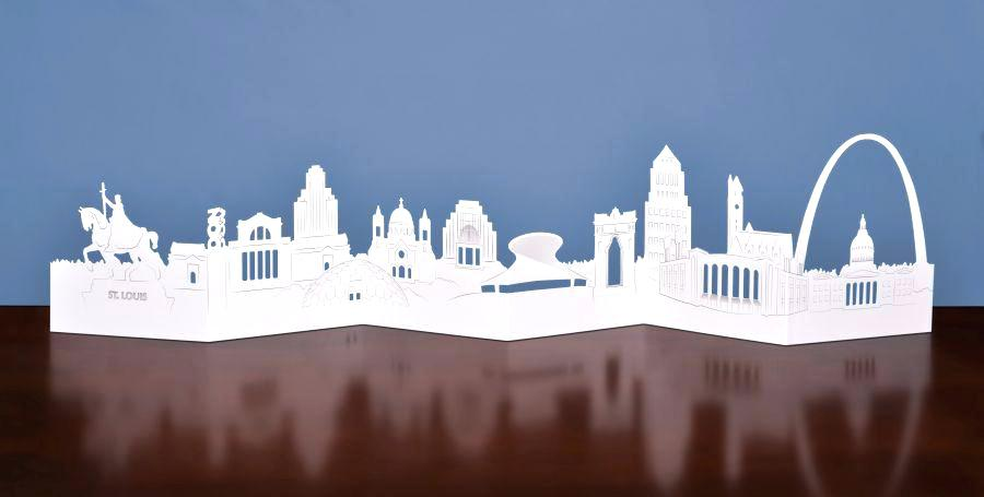 900x455 St Louis Skyline Celebrate Die Cut Card Vector Creekmore