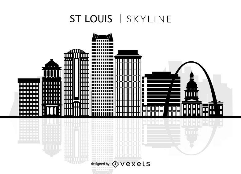 788x570 St Louis Skyline Silhouette