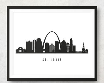 340x270 St Louis Skyline Etsy