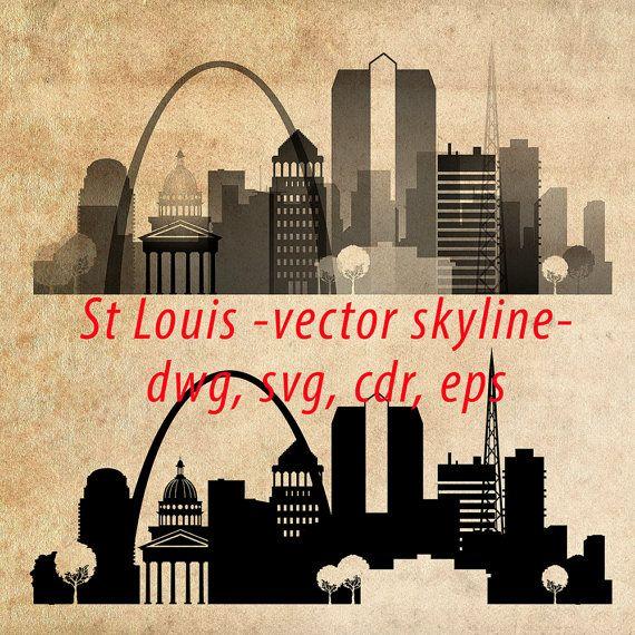 570x570 St. Louis Svg, Missouri, St. Louis Clipart City Silhouette, St