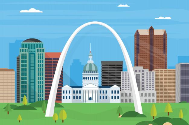 626x416 Illustration Of Saint Louis City Skyline Vector Premium Download
