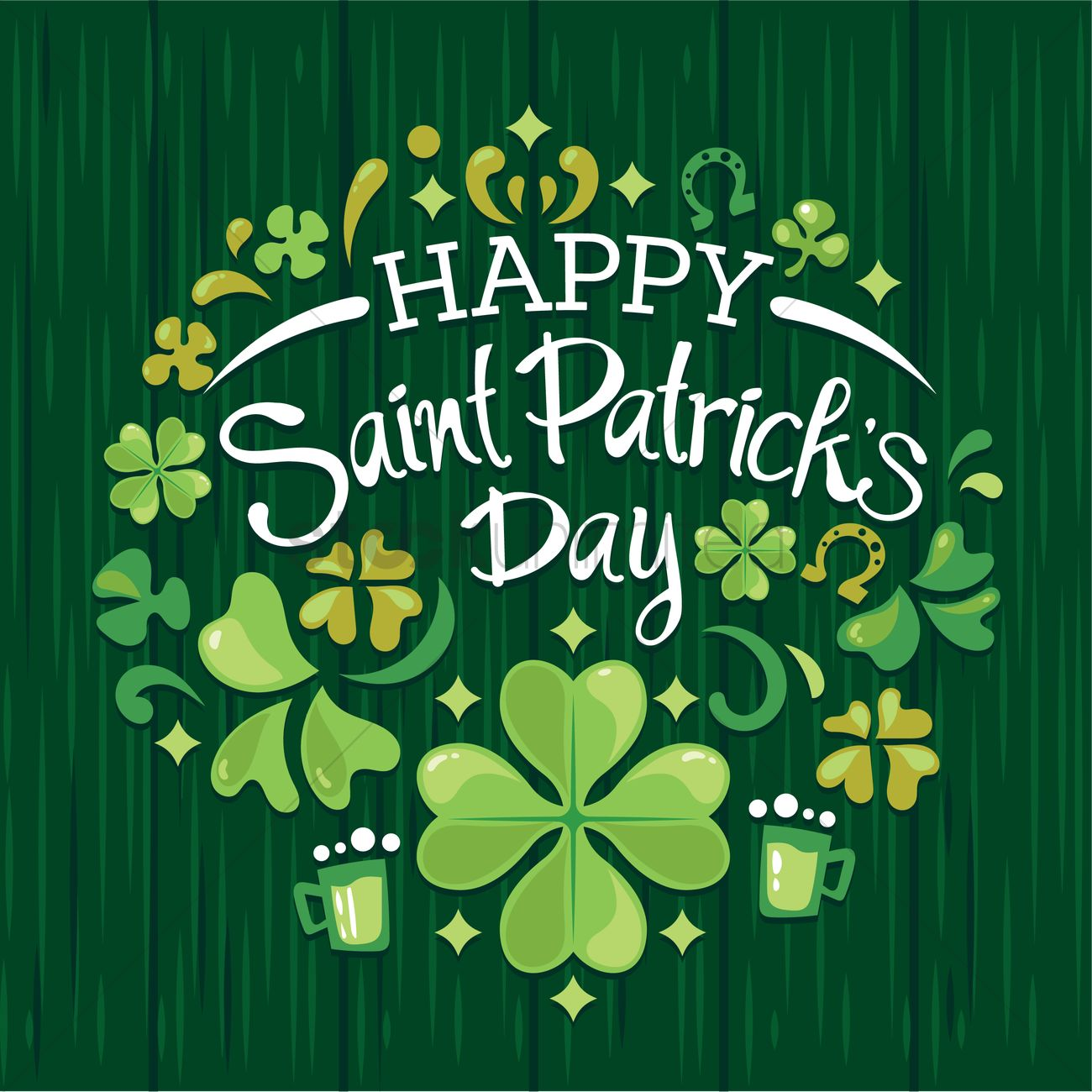 1300x1300 Happy St Patricks Day Vector Image