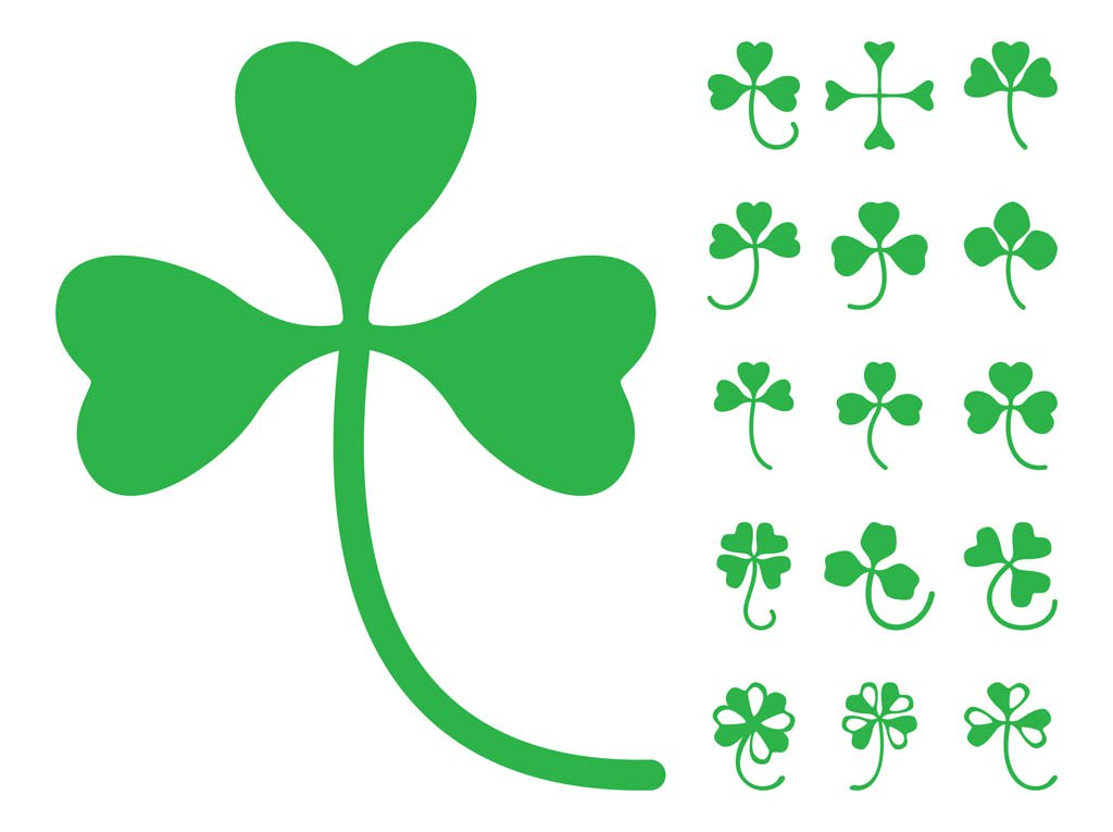 1024x765 Clover Leaves Silhouettes Vector Art Amp Graphics