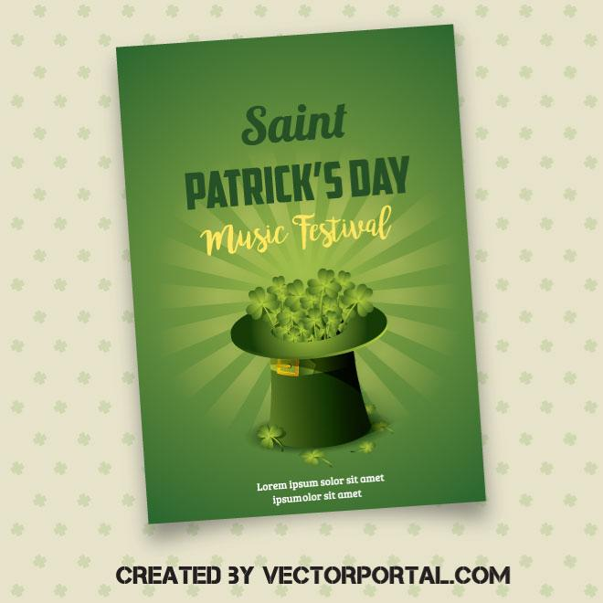 660x660 Saint Patrick Day Vector Poster